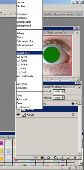 Cambiar color de ojos en Photoshop