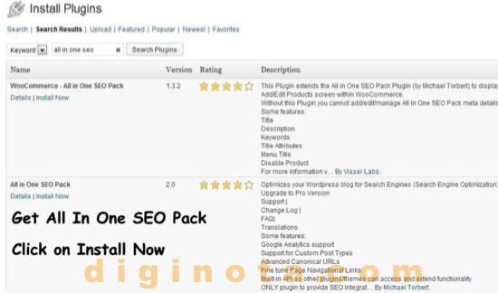 Instale All in One SEO Pack de