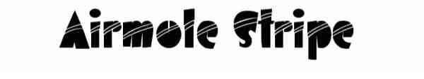 Airmole Stripe Font 0037 600x105 40 Beautiful Decorative Free Fonts for Designers