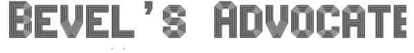 Bevel sAdvocateMono Font 008 600x73 40 Beautiful Decorative Free Fonts for Designers