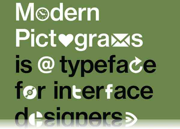 Modern Pictograms Font 0015 40 Beautiful Decorative Free Fonts for Designers