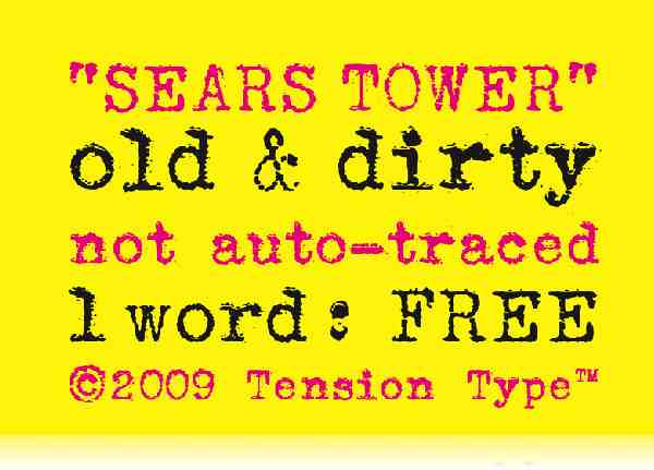 sears tower 0019 40 Beautiful Decorative Free Fonts for Designers