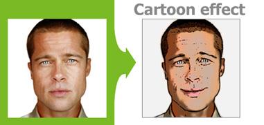 Foto a efecto de dibujos animados