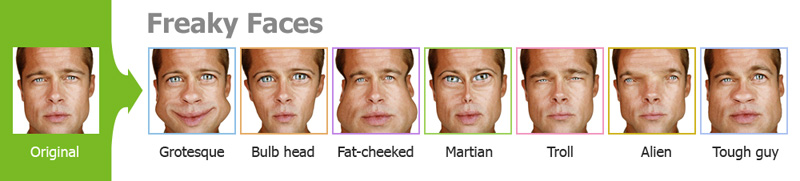 Efectos morphing cara (girando la cara común y corriente en un extraño)