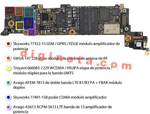Desarmar y reparar un iPhone 5 paso a paso foto-Tutorial 18