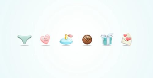 Colección de iconos o recursos gráficos para el día de San Valentin gratis 10