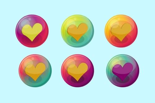 Colección de iconos o recursos gráficos para el día de San Valentin gratis 12