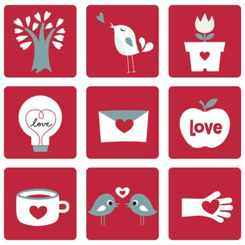 Colección de iconos o recursos gráficos para el día de San Valentin gratis 13