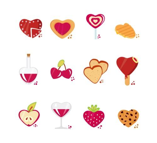 Colección de iconos o recursos gráficos para el día de San Valentin gratis 14