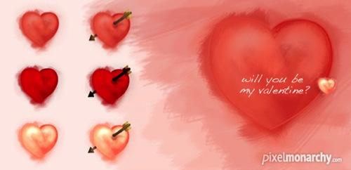 Colección de iconos o recursos gráficos para el día de San Valentin gratis 15
