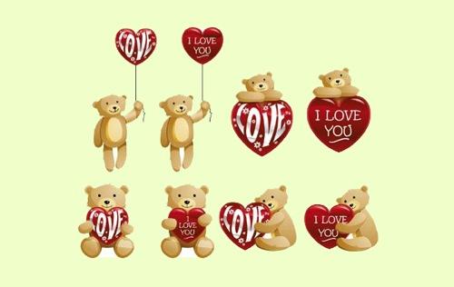Colección de iconos o recursos gráficos para el día de San Valentin gratis 17