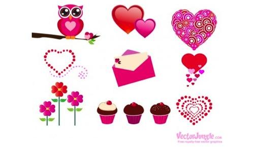 Colección de iconos o recursos gráficos para el día de San Valentin gratis 19