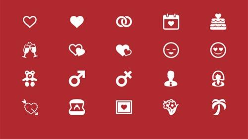 Colección de iconos o recursos gráficos para el día de San Valentin gratis 3