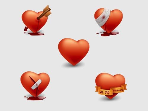 Colección de iconos o recursos gráficos para el día de San Valentin gratis 4