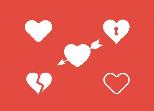 Colección de iconos o recursos gráficos para el día de San Valentin gratis 9