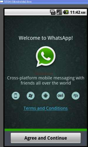 instalacion WhatsApp Agree