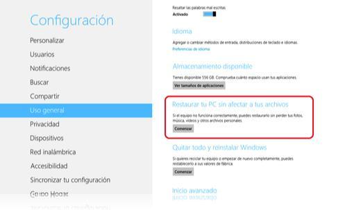 Cómo reinstalar Windows 8 sin pérdida de datos 3