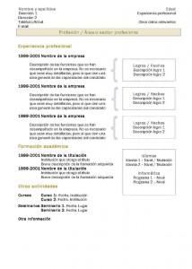 Currículum Vitae: Modelo Cronológico 2