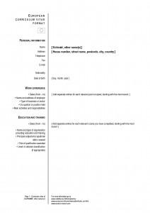 European CV - english