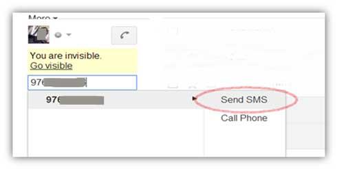 enviar SMS gratis desde el chat de Gmail