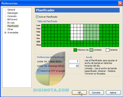 planificador uTorrent