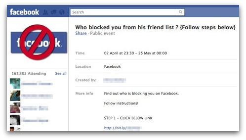 Falsa encuesta para ver quién nos bloquea en Facebook 1