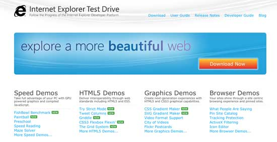 Microsoft presenta una versión preliminar de Internet Explorer 10 1