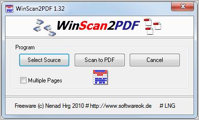 WinScan2PDF, escanea y guarda documentos en PDF 1