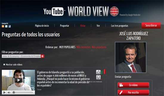 España: Pregúntale lo que quieras a Zapatero vía Youtube 1