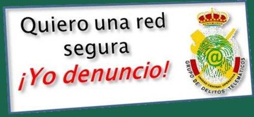 La Guardia Civil inicia la campaña «Yo denuncio» para los usuarios de las redes sociales 1