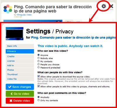 Subir a internet un vídeo privado para compartirlo con determinadas personas 1