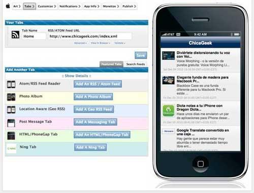 Quieres crear una APP para iPhone y no sabes nada de código ya puedes con AppMkr 2