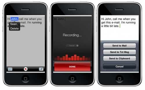 Ahora puedes hablar a tu iPhone y el escribirá lo que dices con :Dragon Dictation 1