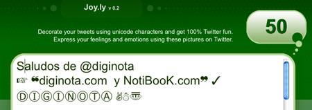 Cómo añadir emoticonos a tus tweets con Joy.ly 1