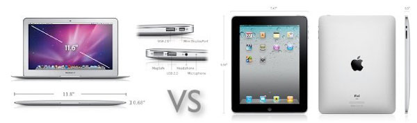 Comparación entre un iPad 16GB Wifi y un MacBook Air de 11 pulgadas 0