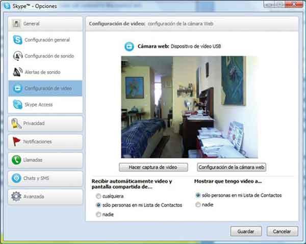 Skype videovigilancia