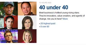 """las 40 """"estrellas de los negocios"""" con menos de 40 años 0"""