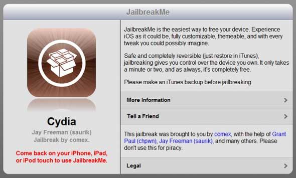 Ya disponible JailbreakMe 3.0 la forma más sencilla de hacer Jailbreak en un click 0