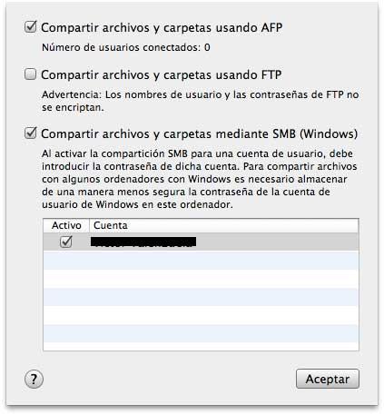 Cómo compartir carpetas entre Mac OS y Windows 3