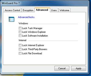Bloquea cualquier archivo, carpeta o programa en Windows con WinGuard 0