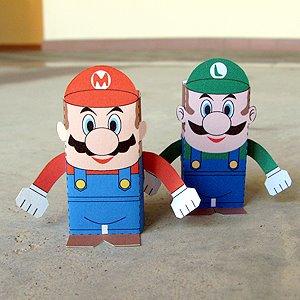 5 paper toys geeks para los amantes de Mario Bros (Figuras de Papel) 3