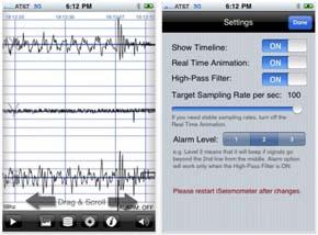 App para Detectar y alertar de terremotos para el iPhone / iPad 2