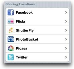 PhotoScatter, sube tus fotos a múltiples sitios desde el iPhone 0