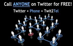 Llama gratis por teléfono a los usuarios de Twitter con Twit2Tel 0