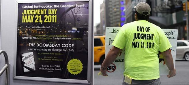 Amplia campaña publicitaria por EEUU para anunciar el fin del mundo. Foto: REUTERS.