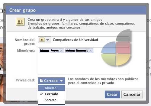 Cómo hacer para crear  grupos en Facebook 1