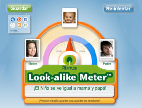 Averiguar si un bebé se parece más a mamá o a papá con Look-alike 1