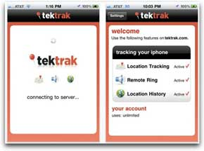 Una app para encontrar tu iPhone robado, TekTrack 0