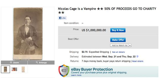 Un hombre afirma tener una foto que prueba que Nicolas Cage tiene más de cien años 1