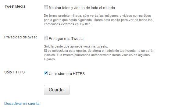 Evita que te hackeen tu Twitter con HTTPS 2